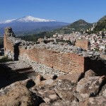 Der tna von Taormina aus gesehen. &copy; Marc Szeglat