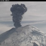 Ascheeruption am Popocatepetl. &cpy; CENAPRED