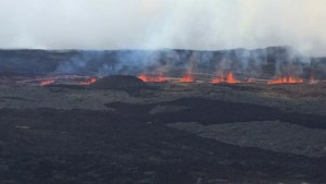 Lavafontänen am Fournaise. © Antenne Réunion