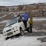 Our car stucks in deep snow.  © Marc Szeglat