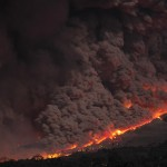 Pyroclastic flow during darkness. © Marc Szeglat