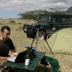 Lengai 2008: Zusammen mit Chris dokumentierte ich die Folgen der großen Ausbrüche.