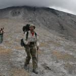 """Der Abstieg über die neue """"Simba Route"""" hat mich sichtlich geschafft."""