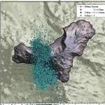 Einzelne Erdbeben unter el Hierro deuten darauf hin, dass sich weiterhin Magma im Untergrund bewegt.