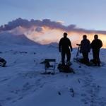 Bei -12 Grad holten sich die Geonauten kalte Füße. © Marc Szeglat