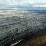 Die Spalte liegt 4,5 km von der Gletscherzunge Dyngjujökull entfernt. © Marc Szeglat