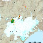 Seismische Karte Vatnajökull. &copyy; IMO