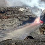 Die Intensität der Lavastrom-Tätigkeit schwankte ebenso wie die der explosiven Eruptionen. © Marc Szeglat