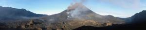 Der Pico do Fogo mit dem nördlichen und südlichen Calderarand. © Marc Szeglat