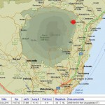 Erdbeben in 0,11 km Tiefe. © INGV