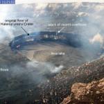 Stand des Lavasees. Die neuen Ablagerungen sind 8 m mächtig. © HVO