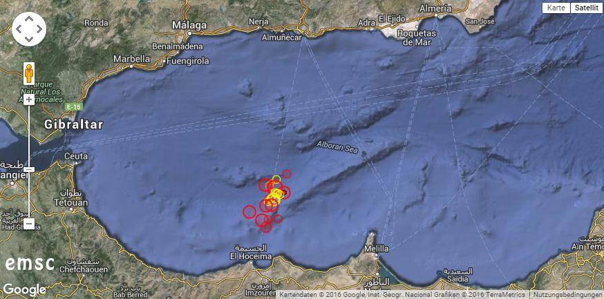 Beben vor der marokkanischen Küste. © EMSC