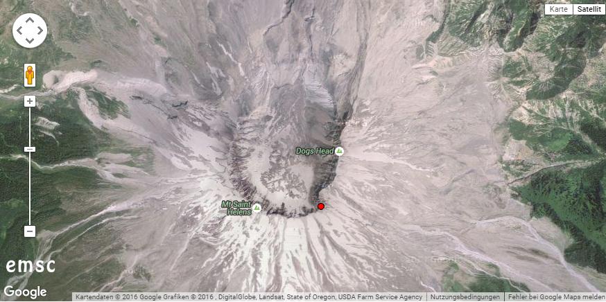 Erdbeben am Mount St. Helens. © EMSC