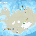 Zahlreiche Erdbeben manifestieren sich auf Island. © IMO