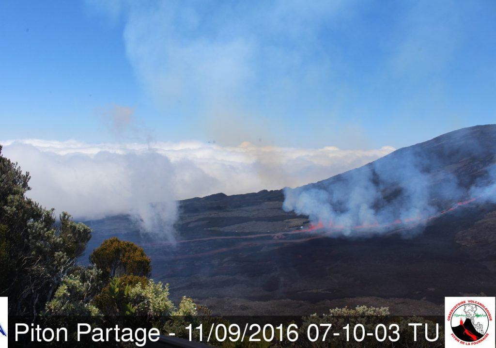 Eruption am Fournaise. © IPGP