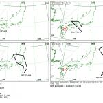 Grafik des VAAC Tokyo mit der Flughöhe (FL in Fuss) der Eruptionswolke.