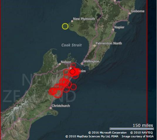 Neuseeland Erdbeben M 7 4 Vulkane Net Newsblog